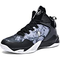 BINQI Men's Basketball Shoes Outdoor Non-Slip Boys high-top Fashion Sneakers Lightweight Casual Breathable Shock…