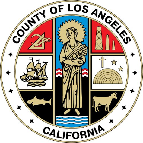 Los Angeles County California State USA Seal Hochwertigen Auto-Autoaufkleber 12 x 12 cm (Los Angeles-siegel)