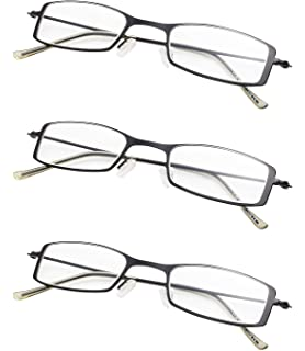 Eyekepper 360/° Foldable Temples Reading Glasses with Transparent Case Men Women Grey Frame, 2.25