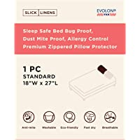 Slick Linens Fabric 200 TC Pillow Cover (White_Standard)
