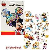 Unbekannt 100 TLG. XL Set - Aufkleber / Sticker -  Disney Mickey Mouse  - selbstklebend - Stickerblock - für Mädchen & Jungen - Playhouse / Micky Maus - Stickerset Ki..