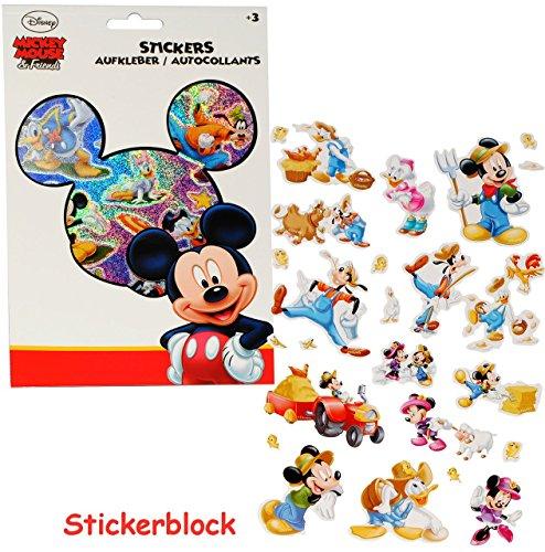 Disney Mickey Mouse Scrapbooking (alles-meine.de GmbH 100 TLG. XL Set - Aufkleber / Sticker -  Disney Mickey Mouse  - selbstklebend - Stickerblock - für Mädchen & Jungen - Playhouse / Micky Maus - Stickerset Ki..)