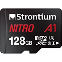 Strontium Nitro A1 128GB Micro SDXC Memory Card 100MB/s A1 UHS-I U3 Class 10 with High Speed Adapter for Smartphones…