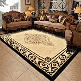 WOFULL Elegant Black Gold Rug Encryption Thickened Suede Living Room Carpet Sofa Coffee Desk Mat 2 Sizes Bedside Blanket ( Size : 80*200cm )
