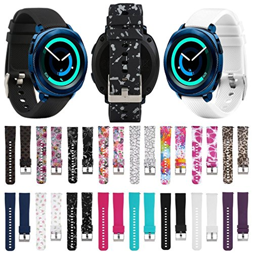 For Garmin Vivoactive 3/Samsung Gear Sport S4 20mm Sports Silicone Watch Wrist Band Replacement Strap For Samsung Gear Sport S4/Garmin Vivoactive