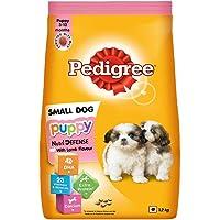 Pedigree Puppy Small Dog Dry Food, Lamb & Milk Flavour – 1.2 Kg Pack
