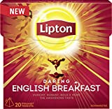 Lipton Schwarzer Tee English Breakfast Pyramidenbeutel, 20 Stück, 3er Pack (60Stück)
