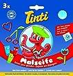 Tinti Malseife 3er Pack (1x gr�n, 1x rot, 1x blau)