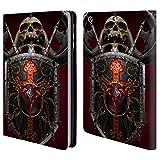 Head Case Designs Offizielle Tom Wood Drachen Schild Fantasie Brieftasche Handyhülle aus Leder für iPad Mini 1 / Mini 2 / Mini 3