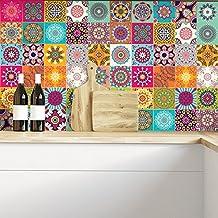 Cuadros de cemento adhesiva pared–azulejos–20x 20cm–60piezas