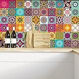 Azulejos adhesivos de imitación para pegar en la pared, 15 x 15cm, 60 piezas