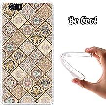 Becool® Fun - Funda Gel Flexible para Elephone M2, Carcasa TPU fabricada con la mejor Silicona, protege y se adapta a la perfección a tu Smartphone y con nuestro exclusivo diseño. Azulejos ocres y marrones