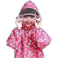 YuYzHanG Impermeables para niños Impermeable Rojo Patrón De Dibujos Animados Impermeable Impermeable con Capucha Siamés De Los Niños De Los Niños del Impermeable Impermeable Y Transpi (Size : XXXL)