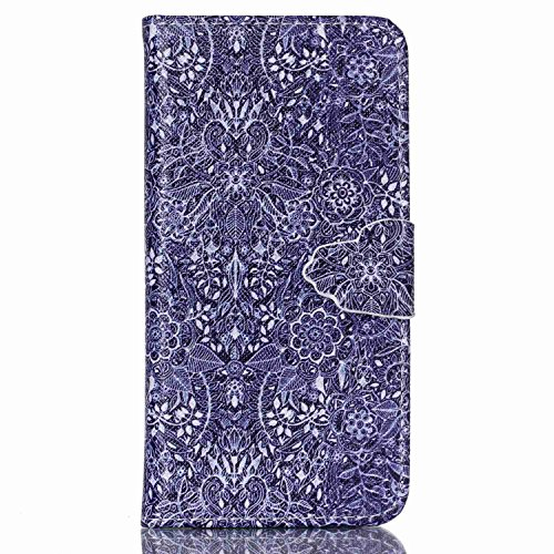 Coque Housse Etui pour iPhone 6 Plus / 6S Plus, iPhone 6 Plus / 6S Plus Cuir Coque Etui, iPhone 6 Plus / 6S Plus Leather Wallet Coque Cases Covers, Ukayfe Protecteur Etui Housse de Protection Étui Coq Rétro Fleur