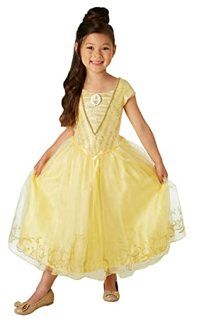 Rubies Official Disney Belle Beauty And The Beast Movie Childs Deluxe Costume Small 3 4 Amazoncouk Toys Games
