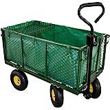 Georges Tuinwagen met tuinwagen, tot 550 kg belastbaar, met luchtbanden, uitneembaar binnenzeil