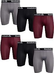 Reebok Men's Compression Long Leg Performance Boxer Briefs (6 Pack)