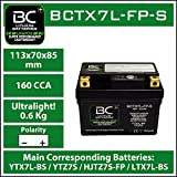 BC Lithium Batteries BCTX7L-FP-S Motorrad Lithiumbatterie LiFePO4 HJTZ7S-FP / YTX7L-BS / YTZ7S / YTZ8V