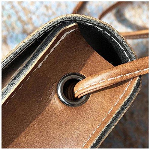 Xmansky Mädchen Retro Einfach Tasche Mini Crossbody Schulter Tasche Braun