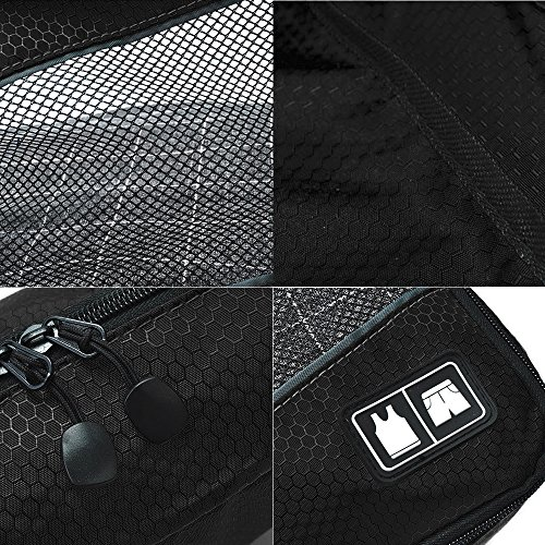 Giancomics® 3 Pcs Kofferorganizer Packtaschen Koffer Wäschtaschen Kleidertaschen Luggagebags Packwürfel Set Haushaltsware Reise Pack (Schwarz - 3 Pcs) Schwarz - 3 Pcs