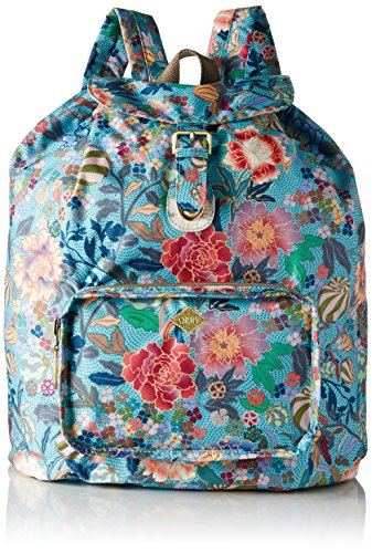 oilily-oilily-folding-classic-backpack-portes-dos-femme-multicolore-pool-blue-16x41x33-cm-b-x-h-x-t