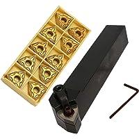 bobotron Lot de supports pour outils rotatifs 20 mm MWLNR2020K08 + 10 inserts en métal dur WNMG0804