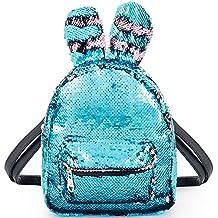 8bb491239fd29 Pailetten Rucksack Damen Schulranzen Tagesrucksack Glitzer Rucksack für  mädchen pink Daypack Backpack Paillette Tasche