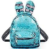 Mädchen Tasche Pailletten glitzer Rucksack blau für kinder Reise Umhängetasche Sport Taschen Paillette Schulranzen Strandbeutel Wandern Tagesrucksack für Damen