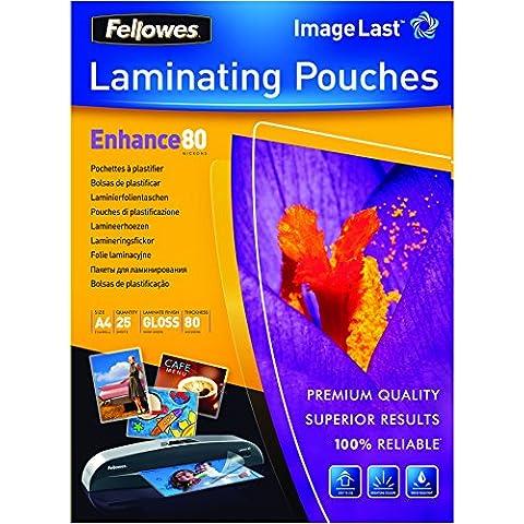 Fellowes 5396205 - Fundas para plastificar (A4, 25 unidades), transparente