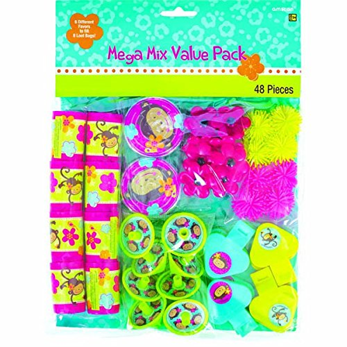 Love Birthday Party Favors Mega Mix Value Pack , 11 1/2 x 9, Green/Pink by Amscan ()