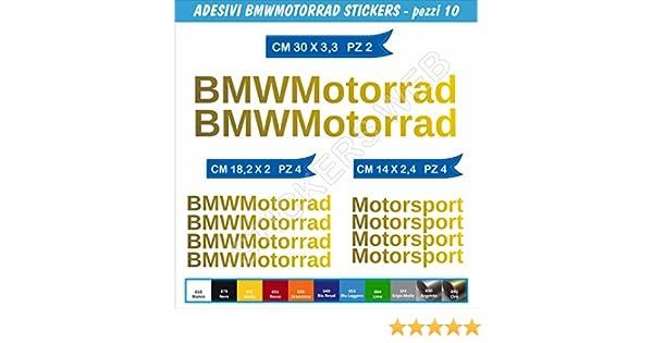 Pimastickerslab Adesivi Stickers BMMOTORRAD Kit 10 Pezzi Scegli Colore Moto Motorbike cod.0065