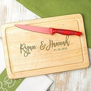 Personalisiertes Schneidebrett – Holz oder Schiefer – Valentinstagsgeschenk für sie – Jahrestag Geschenk für ihn und sie – Weihnachtsgeschenk für Paare