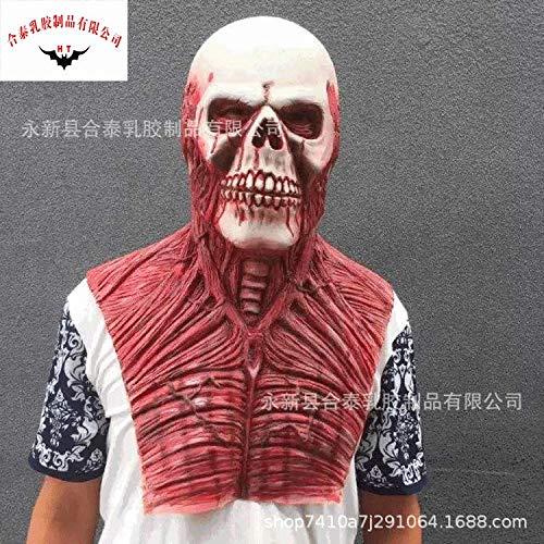 gzldream Thriller Fiesta de látex Horror Cara decoración de Horror Loco máscara de Miedo Mascarada espectáculo Sexy máscara de Encaje Elegante