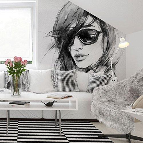 K&L Wall-Art Fototapete - Vliestapete - Tapete - I wear my sunglasses - Gesamtgröße: 288 cm Breite x 260 cm Höhe -FT-1274-260