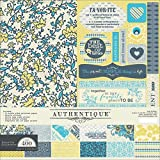 Authentique Paper FAV011 Scrapbook Collection Kit, 12 by 12-Inch, Favorite by Authentique Paper
