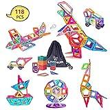 Bloques de Construcción Magnéticos 118 Piezas Juguete Construcción, LeeHur Juguetes Creativos y Educativos, Mejor Regalo para Niños Mayores de 3 años Aprenda El Color y La Forma