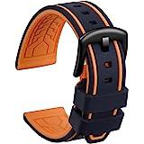 Ullchro Cinturini Orologi Impermeabile Orologi Bracciale in Caucciù Bicolori - 20, 22, 24, 26mm Gomma Cinturino Orologio Fibb