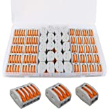 FULARR 50Pcs Premium PCT-212/213 / 215 Resorte Conector Bloque Terminal Kit, Conector Conductor Compacto, Rápido Cable Conect