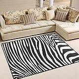 Use7 Teppich, Zebramuster, Schwarz/Weiß, Textil, Mehrfarbig, 203cm x 147.3cm(7 x 5 feet)