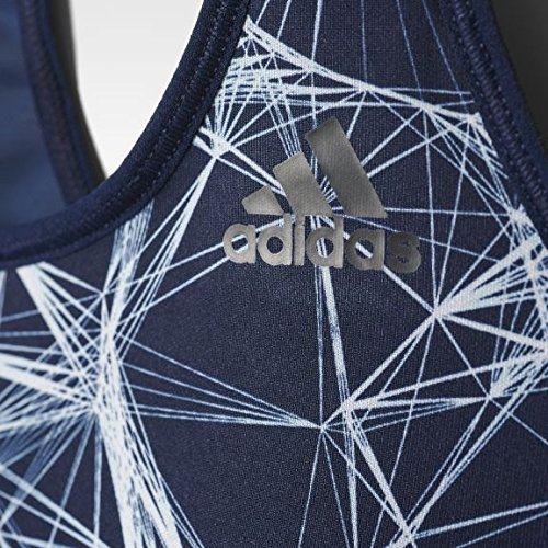 adidas Damen Racer-Back Printed Sport Bh Collegiate Navy