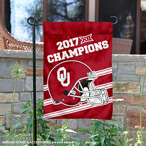 nners Co. Oklahoma Sooners 2017 Big 12 Fußball Champions Garten Flagge ()