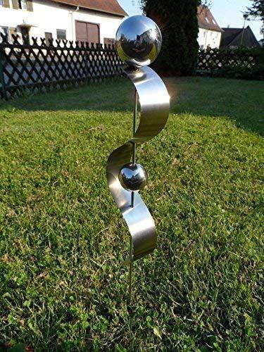 """Edelstahlstele\""""D-60cm\"""" Gartenstecker aus Edelstahl Gartendeko Pflanzenstab Pflanzenstecker"""