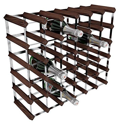 RTA GLOBAL Weinregal für 36Flaschen, verzinkter Stahl/Mahagonibraune Kiefer, Braun (Bar Wine Modular)