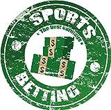 Sports Betting Money Best Earnings Soccer Stamp Hochwertigen Auto-Autoaufkleber 12 x 12 cm