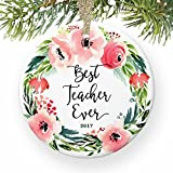 Best Regalos del profesor Evers - Árbol de Navidad decoración mejor profesor ever favoritos Review
