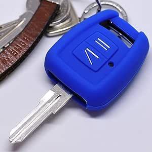 Soft Case Silikon Auto Schlüssel Schutz Hülle Blau Kompatibel Mit Opel Zafira A Astra G Vauxhall