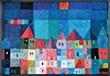 Wash&Dry 078456 Colourful Houses Fußmatte, Acryl, 50 x 75 x 0,7 cm, bunt