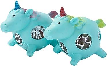 Fancyku (Pack of 2) Kawaii Unicorn Mesh Balll Grape Balls Squeeze Office Pressure Ball Stress Relief Toys (Green)