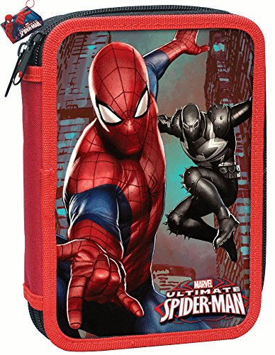 SPIDERMAN - DISNEY - PORTAPASTELLI DOPPIA ZIP