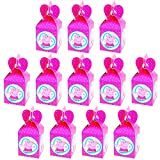 Qemsele Scatole Borse Festa per Bambini, 12 PCS Scatole Caramelle scatole di Regalo Borse Sacca Sacchettini del per Festa di Compleanno Bambini bomboniare Sacchetto Festa (Peppa Pig)